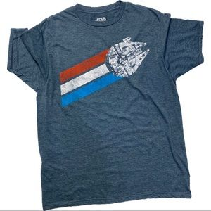 Mens Star Wars Millennium Falcon tshirt